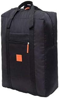 FidgetGear Travel Big Size Foldable Luggage Bag Clothes Storage Carry-On Duffle Bag Orange Black One Size