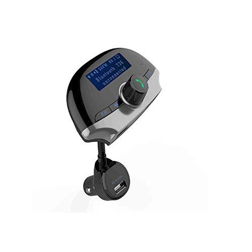 Zimaes Perfectamente Pantalla Grande Bluetooth Coche Reproductor de MP3 Reproductor FM Transmisor degenerado Cargo 3A Overbold Cargador de Coche Mecánico