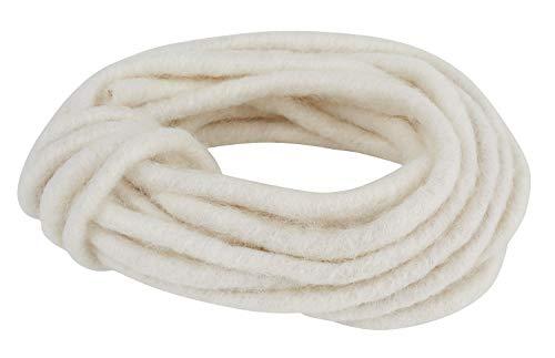 Filzkordel ohne Draht 7-8 mm, L 5 m Weiß
