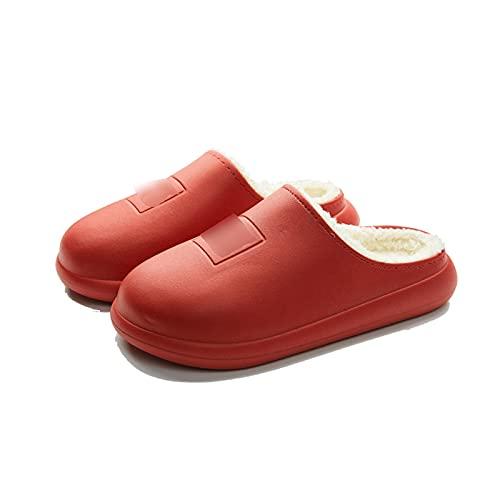 Haoooanmtx Zapatillas Casa Mujer, Zapatos de Invierno Calzoncillos Impermeables Mujeres Antideslizantes, algodón de Lujo Parejas de Interior de algodón al Aire Libre otoño de otoño Zapatos Gruesos