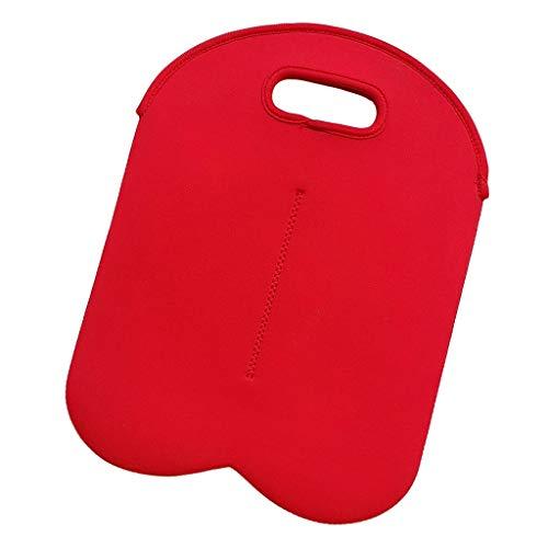 Yadianna Wine Carrier Tote Bag-Two Bottle Insulated Neoprene Wine Bottle Holder Portable for Travel