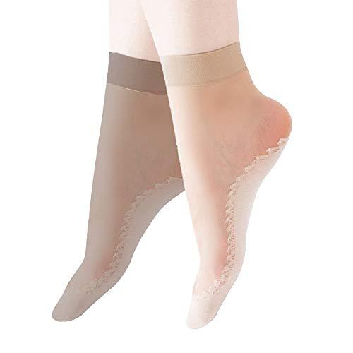 Moonsocks Women's 10-20 Pairs Silky Thin Nylon Short Ankle Socks -  moon socks