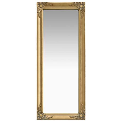 vidaXL Espejo de pared estilo barroco dorado 50x120 cm