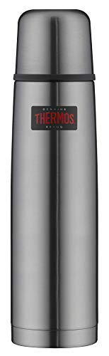 THERMOS 4019.218.100 Thermosflasche Light & Compact, Edelstahl Cool Grey...