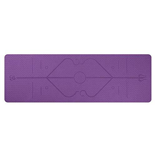 Umbranded - Alfombrilla de yoga (TPE 1830 x 610 x 6 mm, con línea de posición, antideslizante, para principiantes, fitness, fitness, gimnasia, etc.