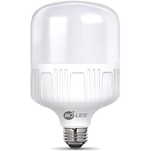 Bioled 50W, E27 LED, Ersetzt 500W, LED Birne, 230V, LED Lampe, 4500lm, Glühbirne, 6400K, LED Leuchtmittel, Feuchtigkeitsbeständig (Kaltweiß)