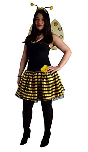 Kit Tutu Abelha Rainha, Masquerade Fantasias, Amarelo e Preto, Único