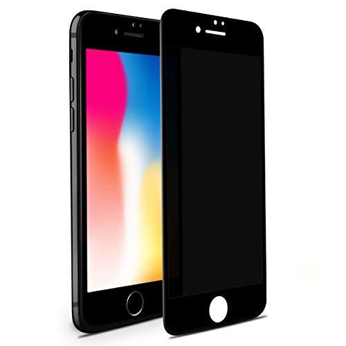 BENKS Sichtschutzfolie für iPhone 7/8/SE 2020, Anti Spy Vollbild Weiche Kante Bildschirmschutzfolie für iPhone SE/8/7 Dunkel Security Folie Privatsphäre Schützen Glas Folie - 4,7