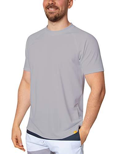 iQ-UV Herren 50+ Sonnenschutz mit V-Ausschnitt, Regular geschnitten Uv T-Shirt, Cool Grey, 3XL/58