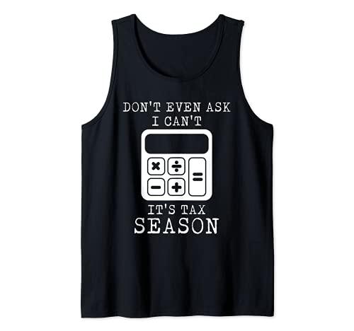 Calculadora Temporada Tributaria Asesor Impuesto sobre la Renta Contribuyente Camiseta sin Mangas