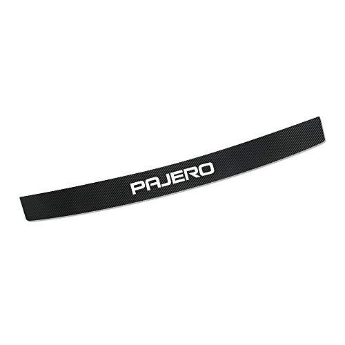 AIPOLE Car Rear Bumper Protectors For Pajero, Carbon Fiber Auto Trunk Guard Plate Strips, Anti-Scratch Auto Threshold Guard Stickers Trim Styling Accessories