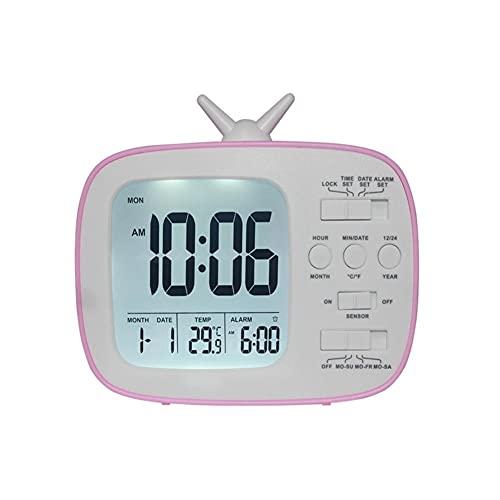 Despertador Lindo Reloj Despertador Multifuncional Mesita De Noche Reloj Despertador Infantil Dormitorio Decoración De La Oficina