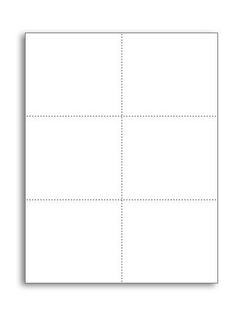 Laser Printer Blank Perforated Cards 6 up per Page, for School Registration Cards, Flower Delivery Cards, Inventory Tags, Wedding Response Cards, RSVP Cards, Trip Tickets, ETC, 1200 White Cards