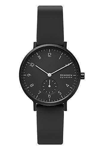 Skagen Damen Analog Quarz Uhr mit Silicone Armband SKW2801