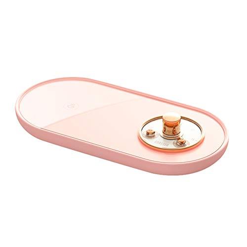 CaiKeRuiQiMaoYiYouXianGongSi Calentador de taza 5V USB inteligente termostático taza Coaster Calefacción Mat (rosa)