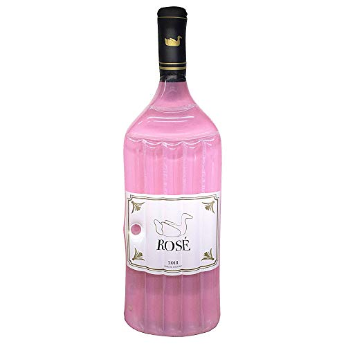 Swimline Inflatable Rose Wine Bottle Pool Float Pink, 92 x 27 inches