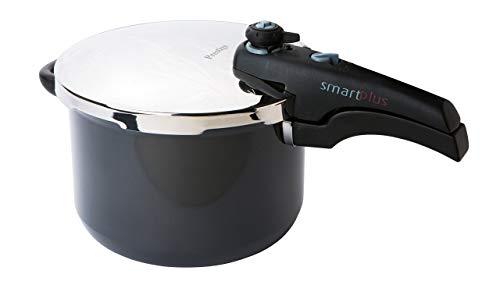 Prestige - Smart Plus - 6L Pressure Cooker - Non Stick - Accessories Included - Hard Anodised - Black
