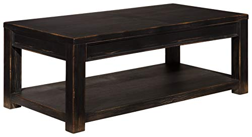 Signature Design by Ashley - Gavelston Coffee Table, Rubbed Black Finish