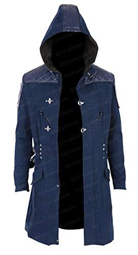 EU Fashions Devil May Cry 5 Nero Trenchcoat Gr. L, Nero Blue Cotton Coat