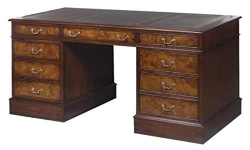 Casa Padrino mahogany desk brown/green 160.5 x 76 x H. 77 cm - Luxury Office Furniture