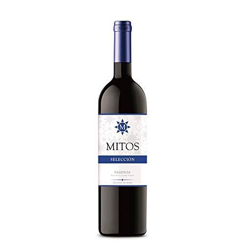 Vino Tinto MITOS Selección - Caja 6 botellas 75cl - DO Valencia - Joven - Suave - Cabernet Sauvignon y Merlot