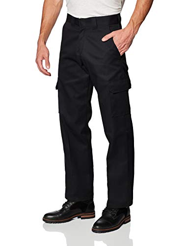 Dickies Men's Relaxed Straight-Fit Cargo Work Pant, black, 38W x 30L