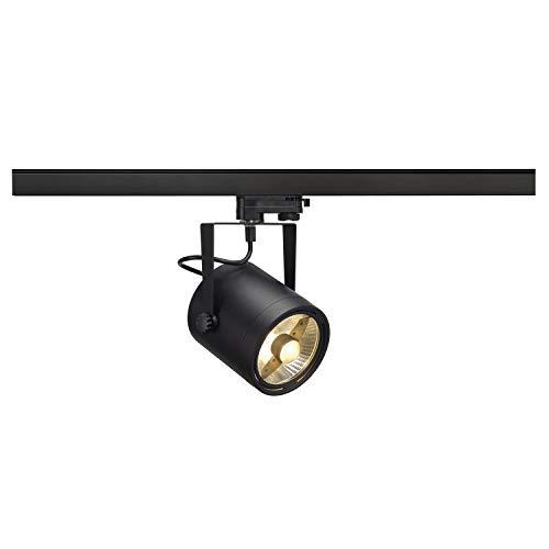 SLV 3 Phasen System Leuchte EURO SPOT / Strahler, LED-Spot, Decken-Strahler, Decken-Leuchte, Schienensystem, Innen-Beleuchtung / GU10 75.0W schwarz