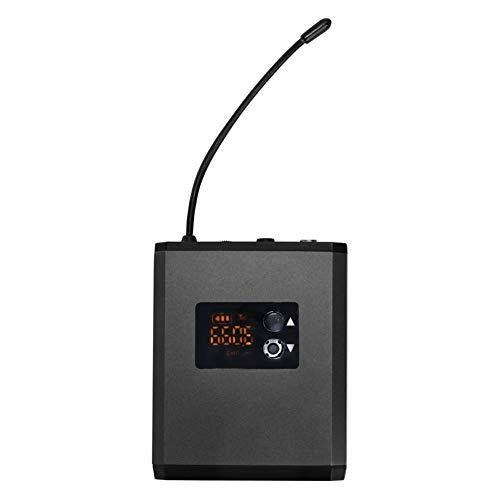 Guía de Viajes transmisor portátil con Maestro del Habla Auricular inalámbrico UHF Sistema de micrófono portátil Recharage Altavoz Portátil Reproductor (Color : Grey)