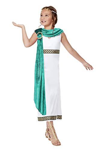 Smiffys 71013M - Disfraz de imperio romano para niñas, color blanco, M - Edad 7-9 años