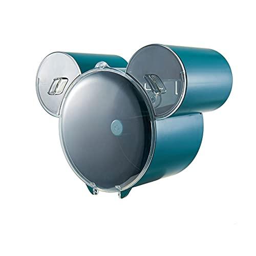 ZAIZI Dispensador de Toallas de Papel, Impermeable Dispensador de Toallas de Papel Montado en la Pared Adhesivo Portarrollos Baño Sin Taladro Porta Rollos para Baño o Cocina