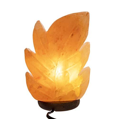 Himalayan Pink Salt Lamp, Leaf Design, All Natural and...
