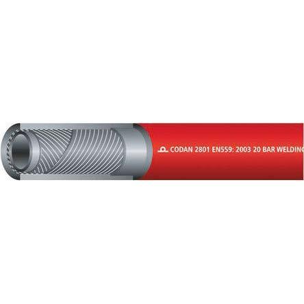 EPDM Schlauch Rot, Ø 6.3mm x 25m, für Acetylengas