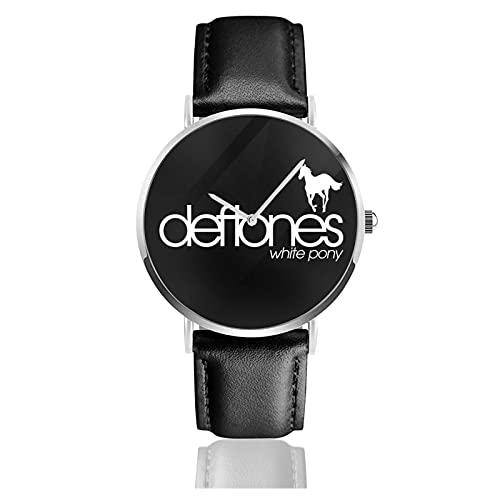 Deftones White Pony Montres Montre-Bracelet en Cuir de Sport Unisexe d'image personnalisée personnalisée Montres à Quartz Montre-Bracelet pour Hommes