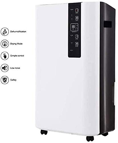Nologo Hohe Qualität 60L Schnelle tragbare Luftentfeuchter 1 Stunde Entfeuchtung, Digitalsteuerung Kontinuierliche Entfeuchtung, Anti-Frost/Defrost, ionisiert Funktion, Easy leeren
