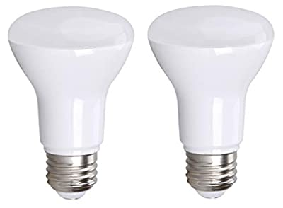 BR20 R20 LED Bulb, Bioluz LED Dimmable BR20 7W (50 Watt Equivalent) Indoor/Outdoor Floodlight LED Bulbs Medium Base (E26) UL Listed