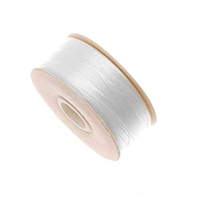 Nymo Nylon Beading Thread for Delica Beads, 72-Yard, White