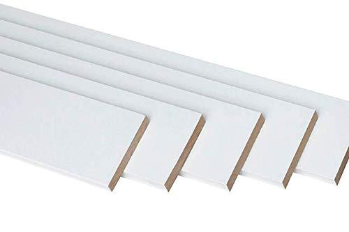 Tapeta blanca lacada de 7cm de ancho x 1,5 cm de grosor x 220 cm de largo