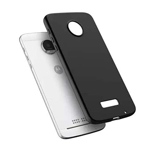 ADRY® Slim Protective Flexi Matte Finish Pudding Back Cover for Motorola Moto Z2 Play (Black)