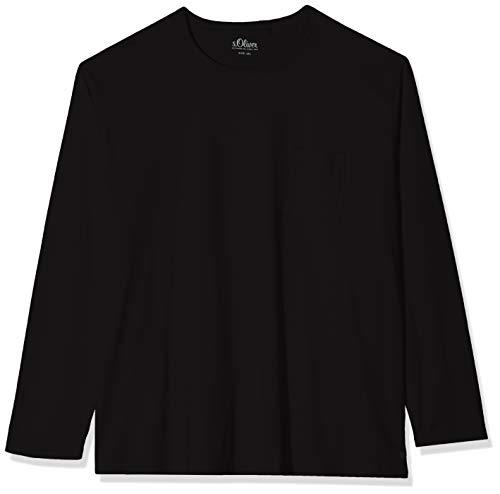 s.Oliver Big Size Herren 15.909.31.6997 Langarmshirt, Schwarz (Black 9999), XXXX-Large (Herstellergröße: 4XL)