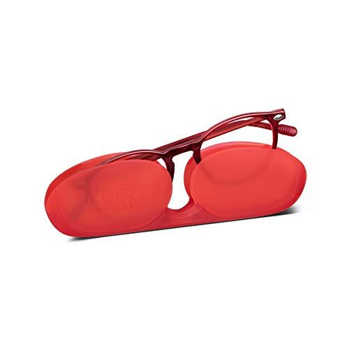Nooz Optics - Gafas de protección contra la luz azul sin corrección para niños de 6 a 10 años - Forma redonda - Color Rojo - Cruzy Collection