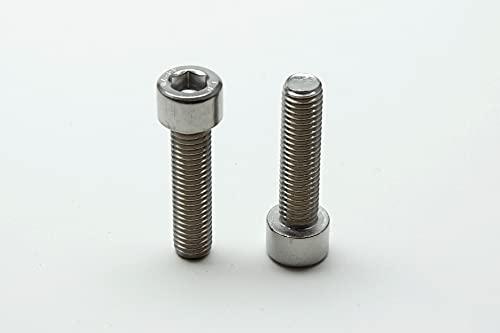 10 tornillos hexagonales DIN 912 de acero inoxidable A2 y A4 (acero inoxidable V4A, M10 x 40 mm)