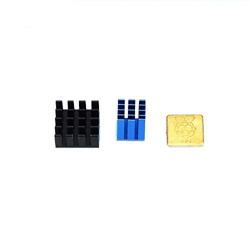 HUANRUOBAIHUO 1set/3pcs Heatsink Cooler Pure Aluminum Copper Heat Sink Set Kit Radiator For Raspberry Pi 3 Model B/B Plus B+ 3D Printer Part 3D Printer Parts