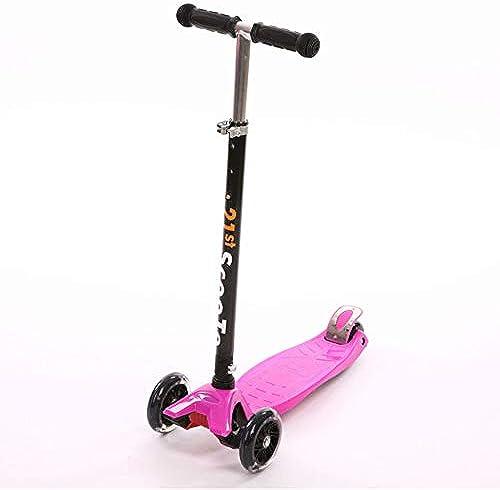 F.RUI KinderScooter YA11 Kinderroller h nverstellbarer 3-PU Blinkenden LED Rollen Faltbar Leichtgewicht Kinder ab 3-10 Jahren für Jungen und mädchen