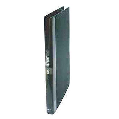 コレクト 名刺整理帳 ブラック A4-L 30穴 K-713-BK