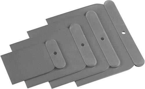 Meister 4231500 4231500-Juego de espátulas de plástico (4 Unidades, 50 mm, 75 mm, 100 mm y 120 mm)