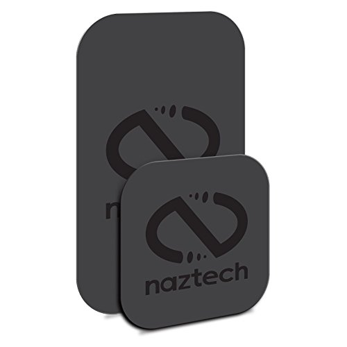 Naztech MagBuddy Ultra-Thin Plates - 2 Extra/Spare Plates for Your MagBuddy Magnetic Mount. Get All Your Mobile Devices Mount-Ready Hands-Free Safe!