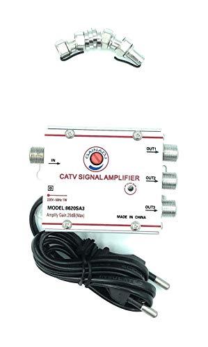 aumenta il segnale digitale terrestre laddove serve!Amplificatore per antenne Tv, analogica o digitale 3 uscite