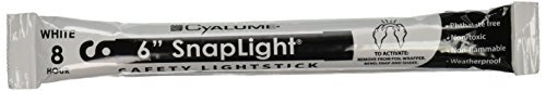 Cyalume - 9-00724 SnapLight White Glow Sticks – 6 Inch Industrial Grade, High Intensity Light Sticks with 8 Hour Duration (Pack of 20)