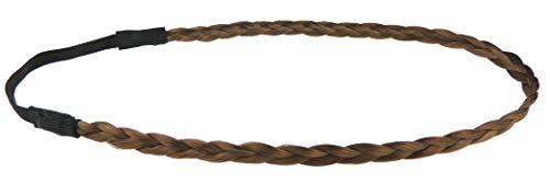 Damen geflochtene geflochtene Kunsthaar elastisches Stirnband Erweiterung 1cm Bandeaux (Mid Brown)