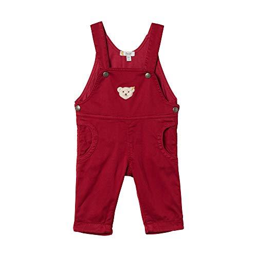 Steiff Baby - Mädchen Latzhose , Rot (BEET RED 4010) , 50 (Herstellergröße:50)
